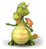 Fototapety Dragon et main vide