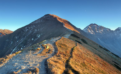 Footpath in high west Tatras - Rohace