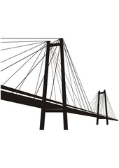 Vector  cable-stayed suspension bridge