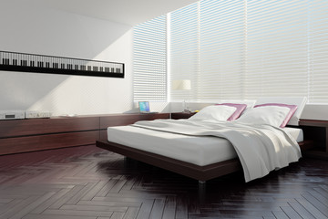 Modern designed bedroom