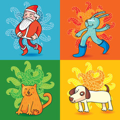 funny cartoon christmas characters