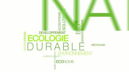 Nuage de tags écologie développement durable animation