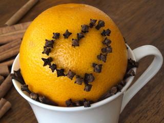 świąteczna pomarańcza w filiżance