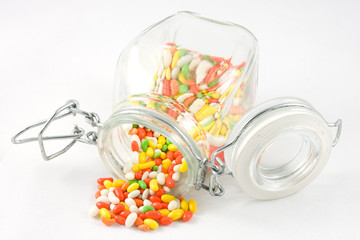 Indian Aniseed Candy in a Kilner Style Jar