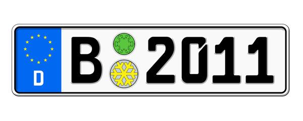 Autokennzeichen 2011 Berlin