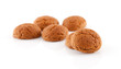 couple of of pepernoten (ginger nuts) over white background