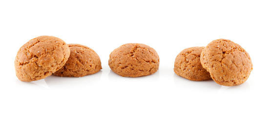 couple of pepernoten (ginger nuts) over white background