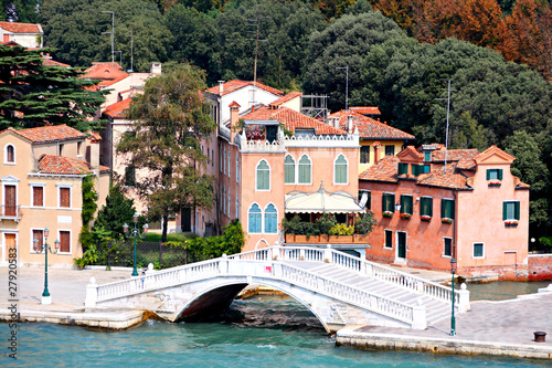 bridge and houses of Venice