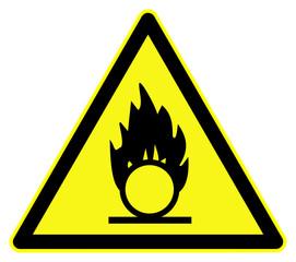 Oxidising danger symbol