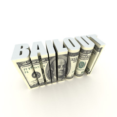usa bailout 3D title text label