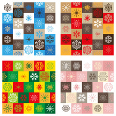 Compitalion of four seamless patterns - Christmass edition