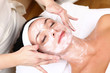 face of women getting a spa treatment - 27925194