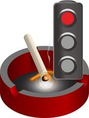 semaforo en rojo tabaco
