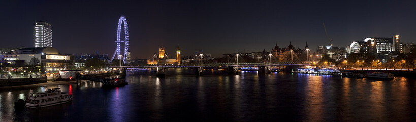 Panorama of Westminster at night