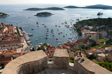 Hvar, from the Castle, Croatia