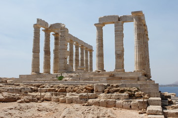 The Temple of Poseidon at Sounion, Attica Peninsula, Greece