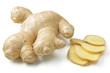 Leinwandbild Motiv Ginger Root Sliced