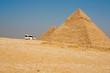 Tourist Van Stop Pyramids Giza
