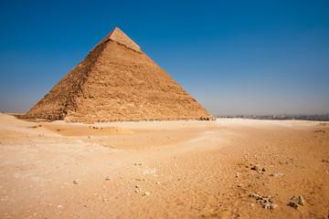 Pyramid Khafre Rear Cityscape Desert