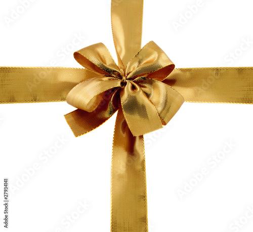 noeud et rubans dor s emballage paquet cadeau photo libre de droits sur la banque d 39 images. Black Bedroom Furniture Sets. Home Design Ideas
