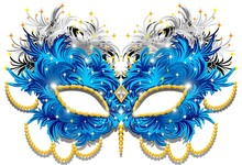 Carnival Mask Carnival Mask Feather-Federn-3-Vektor