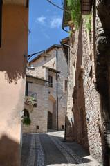 Alleyway. Spello. Umbria.