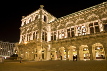 Vienna - opera-house in the night
