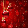 Abstract background with three red balls