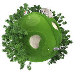 miniature golf planet