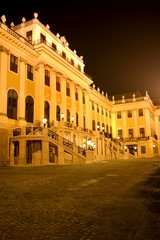 Stock Photo: Vienna - Schonbrunn palace in the night