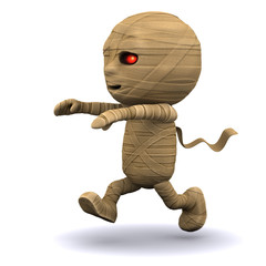 3d Mummy running after somebody