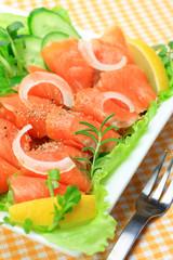 salad of the smoked salmon