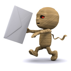 3d Mummy delivers mail