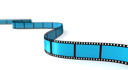 Filmstreifen mit Tiefenunschärfe