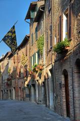 Alleyway. Citta' della Pieve. Umbria.