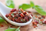 sun-dried tomatoes with basil and salt