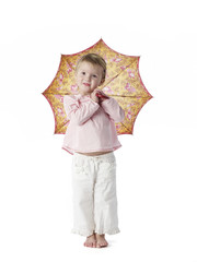 Little girl holding an umbrella
