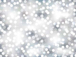 Christmas Silver Bokeh