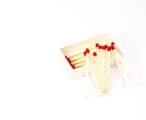 Matches isolated on white