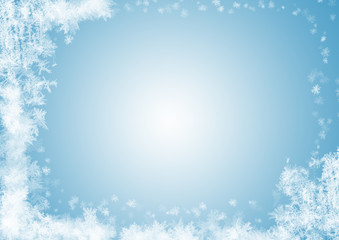Schneeflocken Rahmen