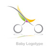 Logo colored stroller, child born