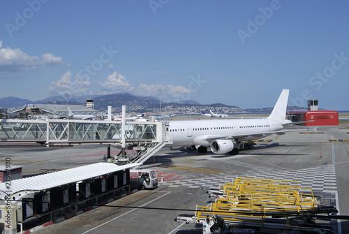Leinwanddruck Bild Terminal building at Nice Airport. Provence. France