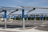 Renewable energy: solar panels poster