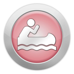 """Light Colored Icon (Red) """"Canoeing"""""""