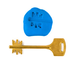 Key impression - security concept