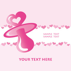 tarjeta de nacimiento rosa