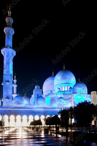 Abu Dhabi, UAE - Shaikh Zayed Mosque - Night scene