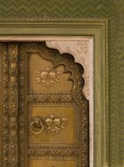 Architectural Detail Of Doorway, Jaipur, Rajasthan, India