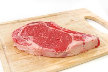 Fresh rib eye steak