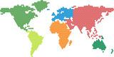 Fototapety Vector world map
